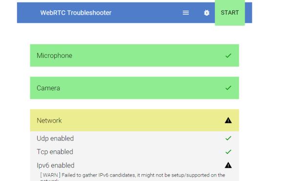WebRTC Troubleshooter