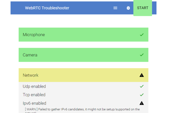 WebRTC Troubleshooter