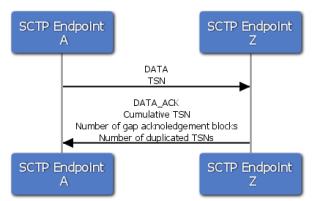 SCTP data flow