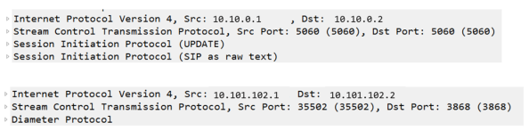 SIP and Diameter in Wireshark