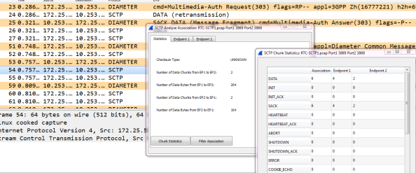 SCTP in Wireshark